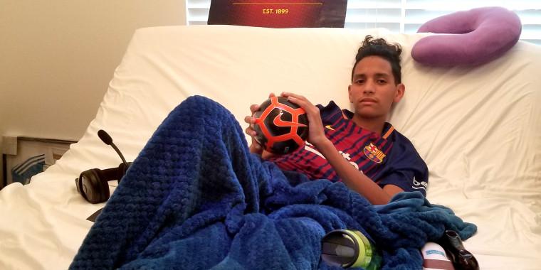 Image: Anthony Borges, 15, a survivor of the Parkland massacre.