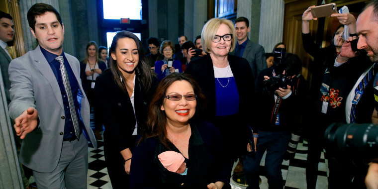 Duckworth Makes History With Baby S Debut On Senate Floor
