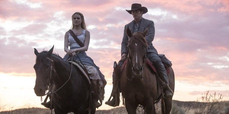 Image: Westworld Evan Rachel Wood and James Marsden