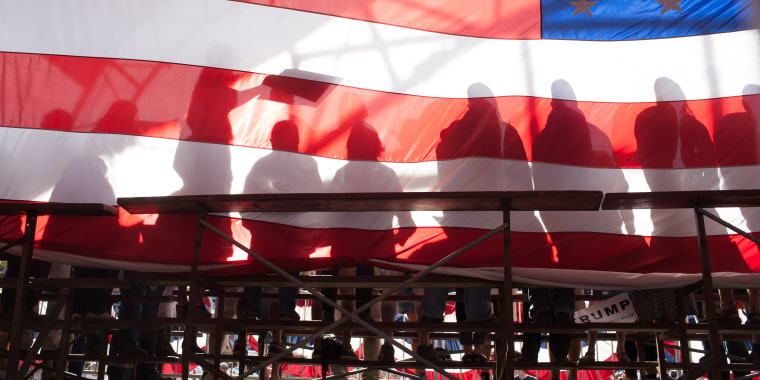 Image: GOP Republican Candidate Donald Trump Holds Rally In Lynden, Washington