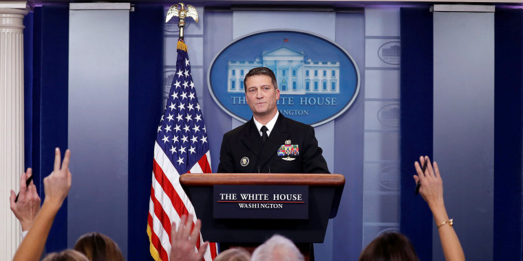 Image: White House, Presidential Physician Ronny Jackson Answers Question  About U.S. President Donald Trumpu0027s