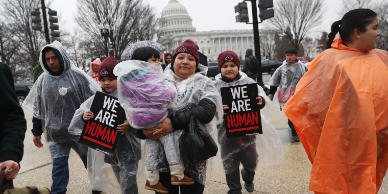 Image: Immigration activists march in front of the U.S. Capitol