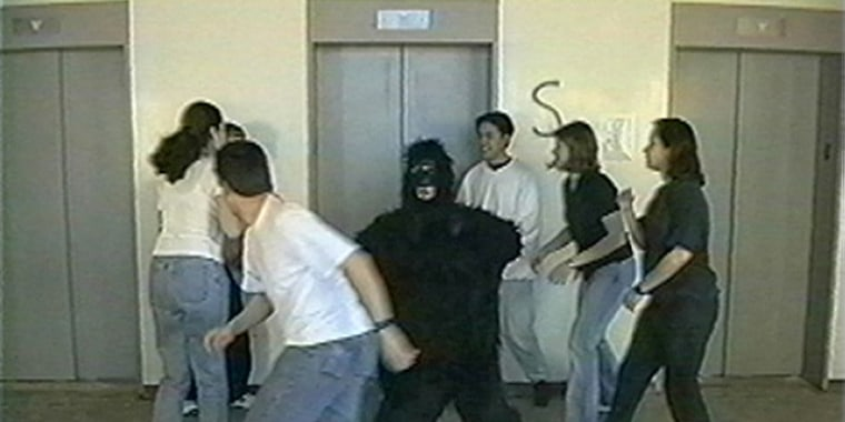 In a famous 1999 video experiment, viewers focused on counting basketballs failed to notice a woman in a gorilla suit that walked into the scene.