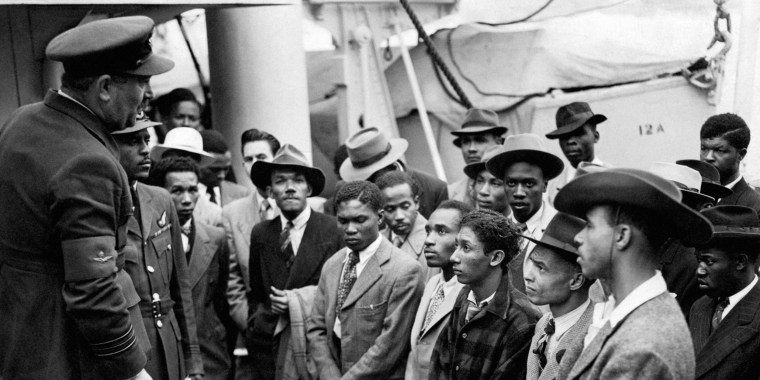 Jamaican Immigrants Are Welcomed By British Officials After The Empire Windrush Arrived In England In  Pa Zuma Press File