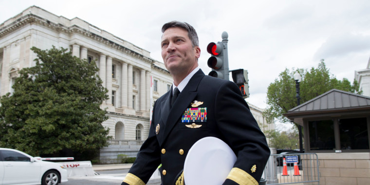 Image: Ronny Jackson walks on Capitol Hill following a meeting