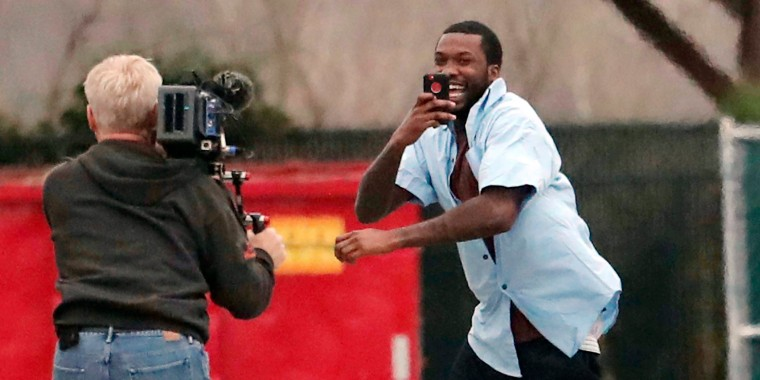 Rapper Meek Mill Leaves The State Correctional Institution In Chester Pennsylvania On Tuesday David Swanson The Philadelphia Inquirer Via Ap