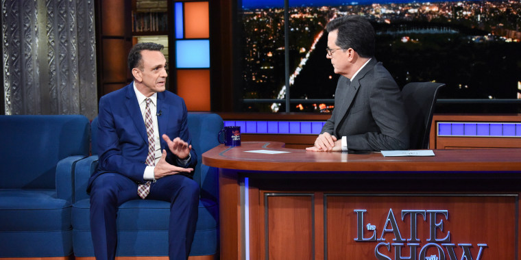 Image: The Late Show with Stephen Colbert and guest Hank Azaria on April 24, 2018.
