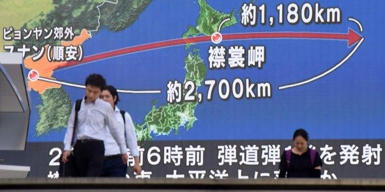 Image: Japan missiles
