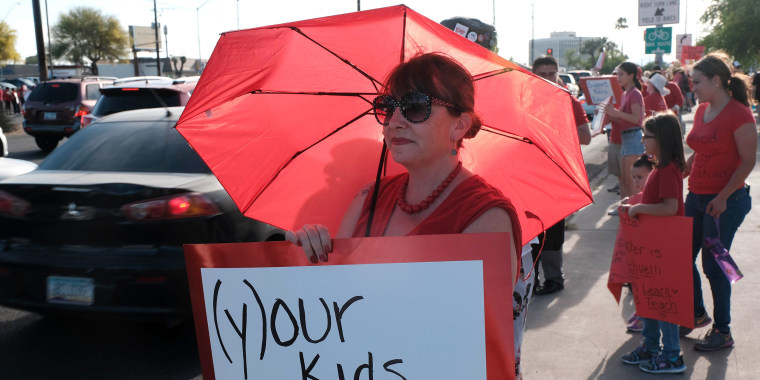 Image: Teacher protest the day before stae wide walkout
