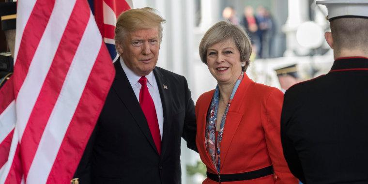 Image: Donald Trump and Theresa May