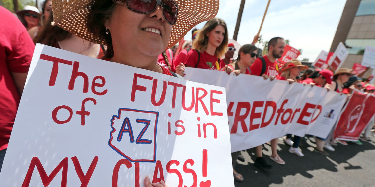 Image: Arizona Teachers Go On Strike And March To State Capitol