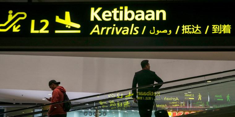 Image: People move inside the Kuala Lumpur International Airport, Malaysia, Feb. 15, 2017.