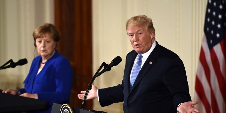 Image: Donald Trump, ANgela Merkel
