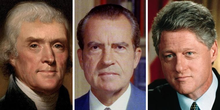 Image: Thomas Jefferson, Richard Nixon, Bill Clinton