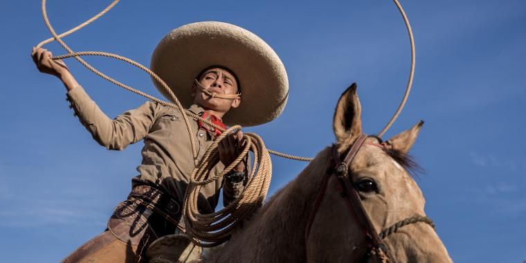 Image: Edmundo Rios III at the San Antonio Charro Ranch in San Antonio, Texas on Nov. 19, 2017.