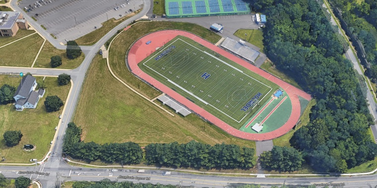 Image: Holmdel High School athletic fields and track in Holmdel, New Jersey.