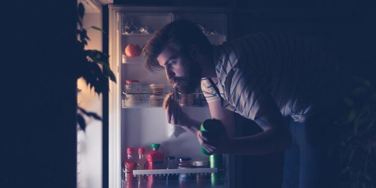 Image: Nightime Snacking At Fridge