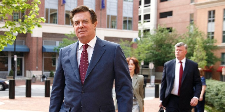 Image: Former Trump campaign manager Paul Manafort attends a motion hearing at the US District Court in Alexandria, Virginia.