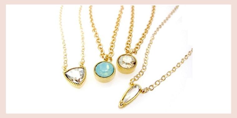 Jessica Elliot Layering Pendants with Genuine Swarovski Crystal