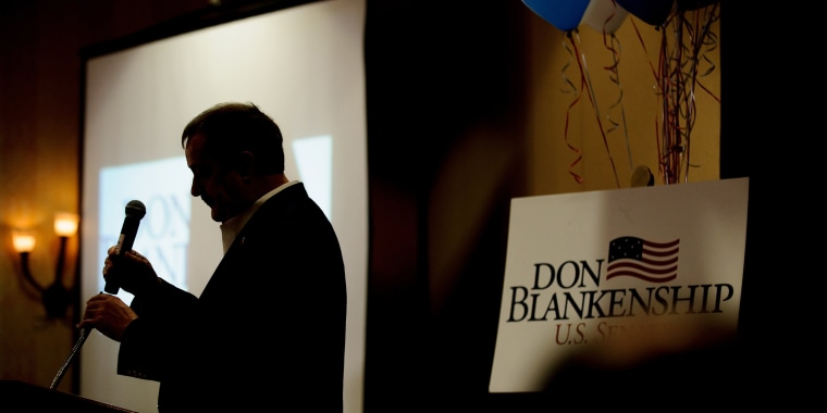 Image: Republican Senate Candidate For West Virginia Don Blankenship Holds Primary Night Attend