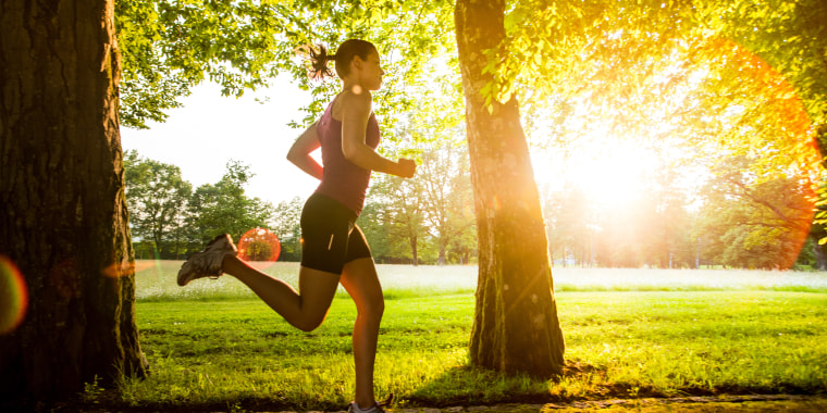 Image: Running outdoors