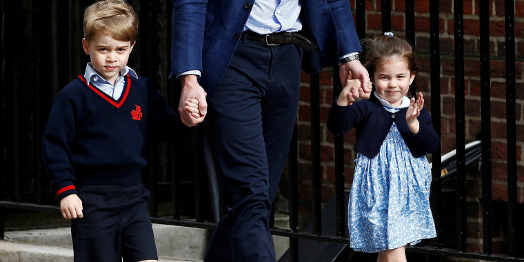 Britain's Prince William, Prince George and Princess Charlotte