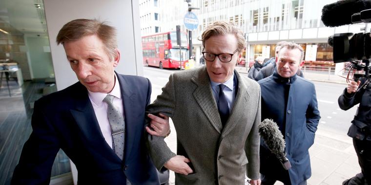 Image: Alexander Nix, CEO of Cambridge Analytica arrives at the offices of Cambridge Analytica in central London