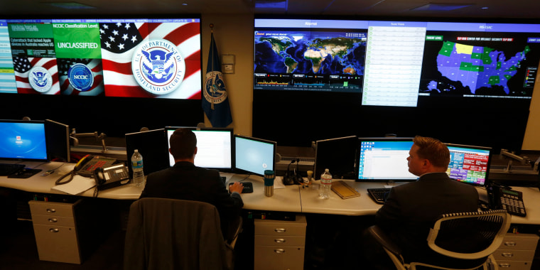 Image: National Cybersecurity and Communications Integration Center employees