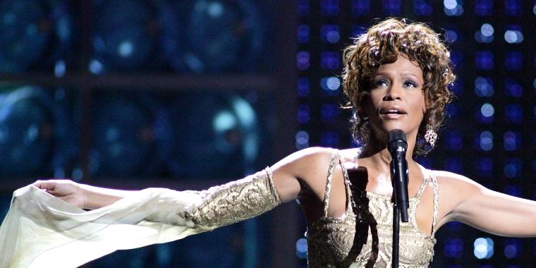 Whitney Houston at the World Music Awards in Las Vegas.