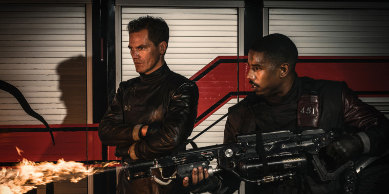 Image: Michael Shannon and Michael B. Jordan in HBO's Fahrenheit 451