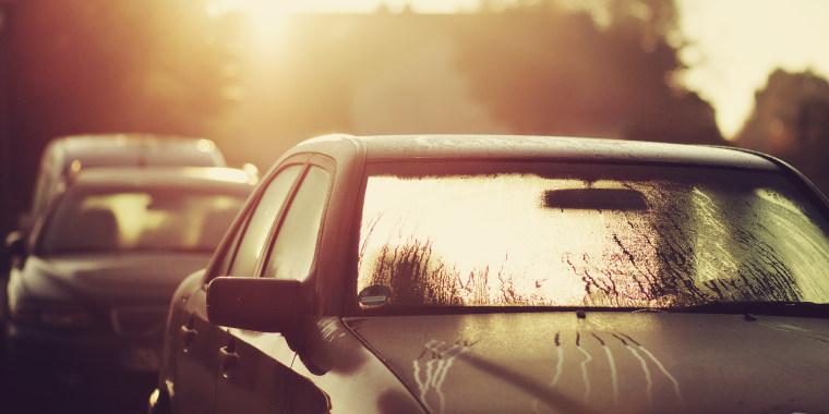 Morning sun on a car
