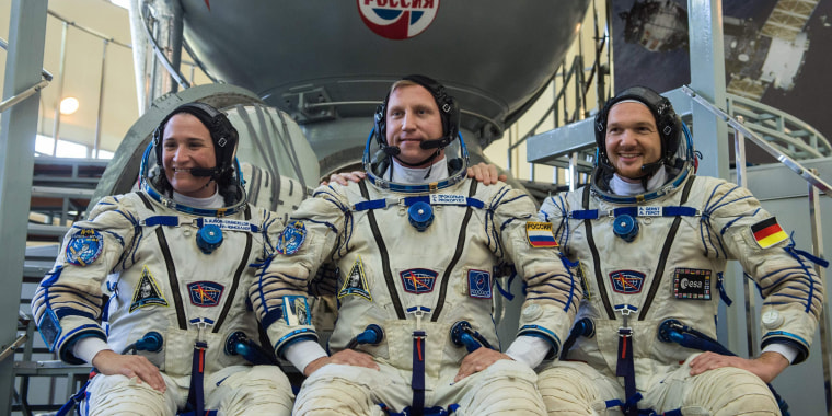 Image: RUSSIA-US-GERMANY-SPACE-ISS