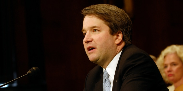 Brett Kavanaugh testifies at a Senate Judiciary Committee in 2006