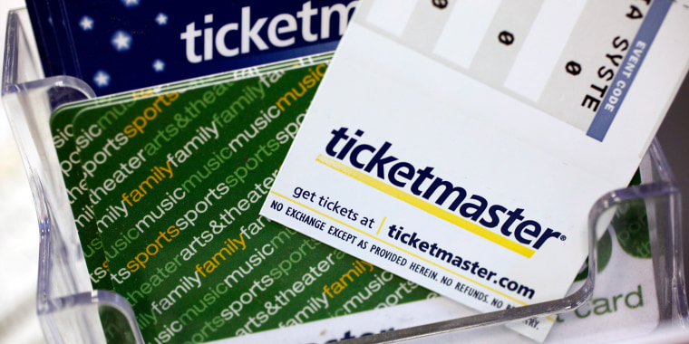 Image: Ticketmaster tickets and gift cards