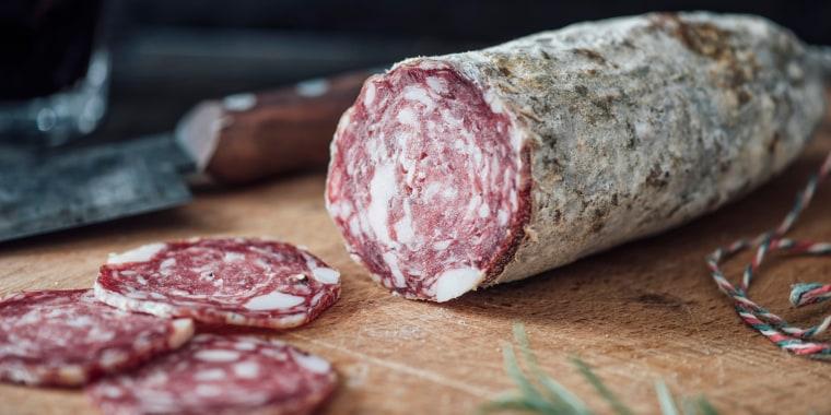 Image: Sliced salami