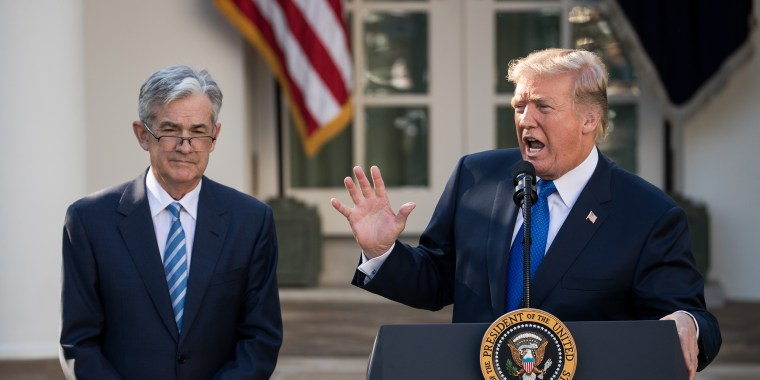 Image: President Donald Trump introduces his nominee for the chairman of the Federal Reserve Jerome Powell