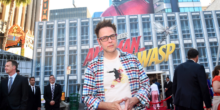 "Image: James Gunn attends the Los Angeles Global Premiere for Marvel Studios' ""Ant-Man And The Wasp"""