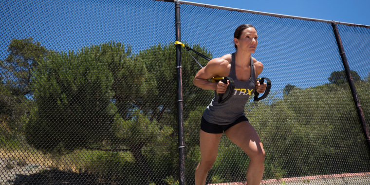 TRX bands can easily be stashed in a suitcase and are proven to activate more muscles than performing exercises without them.
