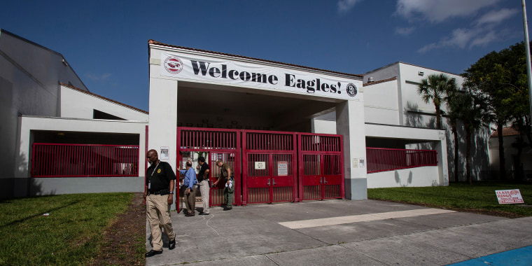 Image: The Marjory Stoneman Douglas High School campus in Parkland, Fla.