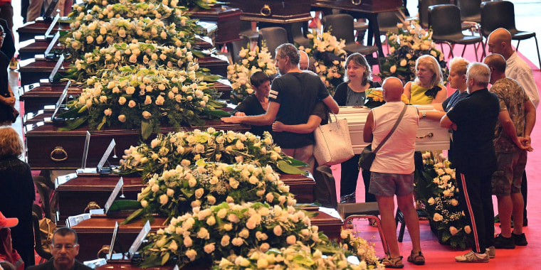 Image: State funeral for the victims of the Genoa highway-bridge-collapse disaster