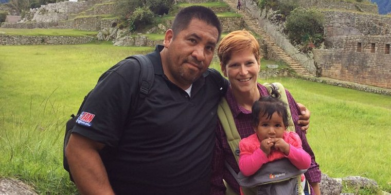 """We're a very bicultural family,"" Amy told NBC News. ""We want Angela to be in touch with her Peruvian heritage."""