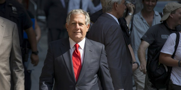 "Image: CBS chairman Moonves arrives for ""The Late Show with Stephen Colbert""  in New York"