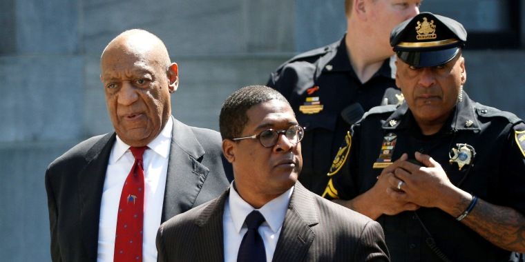 Image: Actor and comedian Bill Cosby exits Montgomery County Courthouse after a jury convicted him in a sexual assault retrial in Norristown