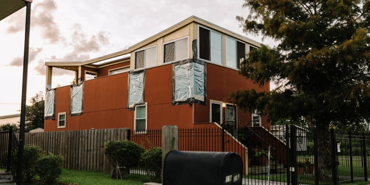 A water-damaged house built by the Make it Right Foundation on Reynes Street