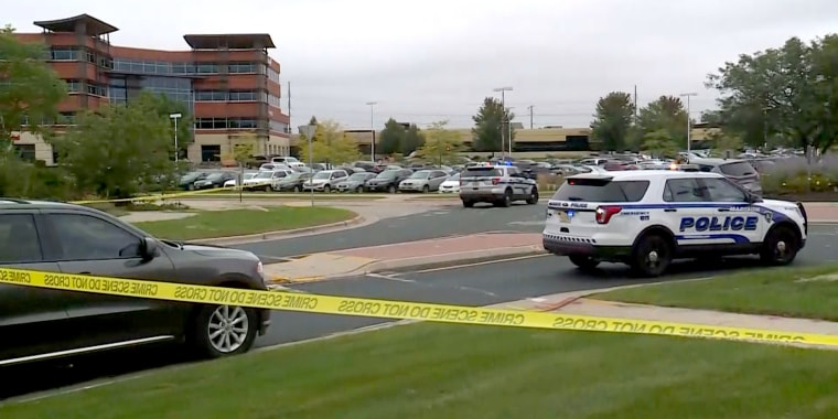 Deming Way in Madison, Wisconsin at the scene of a possible active shooter, on Sept. 19, 2018.