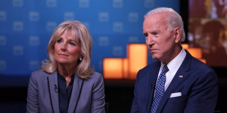 Former Vice President Joe Biden and his wife, Dr. Jill Biden