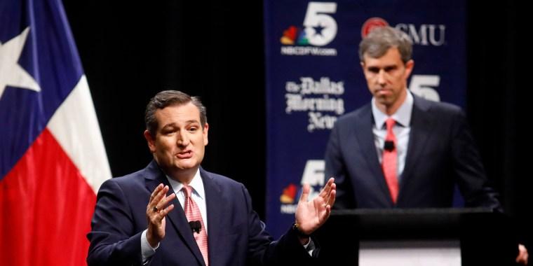 Image: Texas Senate Debate Cruz O'Rourke