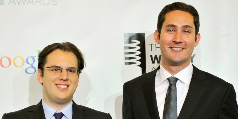 Image: Instagram founders Krieger and Systrom attend the 16th annual Webby Awards in New York