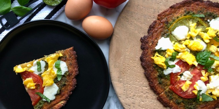 For those days when you don't have the time to make cauliflower crust from scratch, this recipe uses a store-bought version.