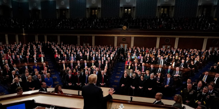 President Donald Trump deliver his State of the Union address to a joint session of U.S. Congress on Capitol Hill on Jan. 30, 2018.